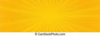arte, amarela, estouro, experiência., vindima, vetorial, bandeira