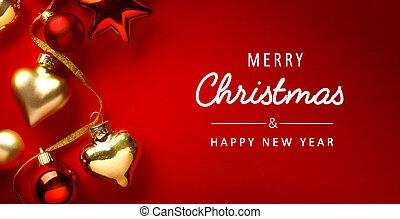 arte, convite, feriados, estação natal, cartão, fundo, bandeira, saudação, ou