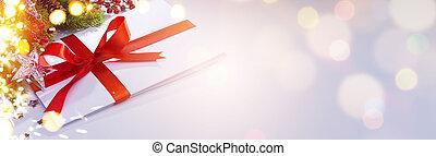 arte, estação, saudação, card;, ornament;, feriado, natal, decoration;