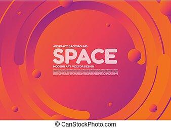 arte, forma abstrata, fundo, curva, modernos, desenho, vetorial, espaço, linha, onda