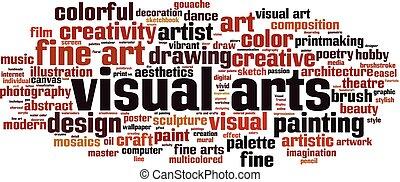 artes visuais, palavra, nuvem