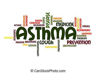 asma, palavra, nuvem