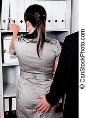 assédio, trabalho, sexual, escritório