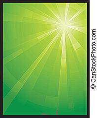 assimétrico, verde claro, vertical, estouro