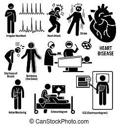 ataque, cardiovascular, doença, coração