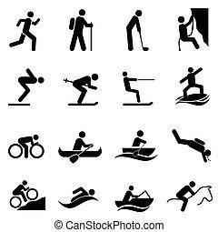 atividades, ao ar livre, lazer, esportes