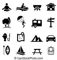 atividades, recreação, lazer, ícones