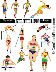 atleta, cet, campo, grande, pista