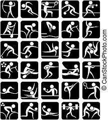 atletismos verão, símbolos
