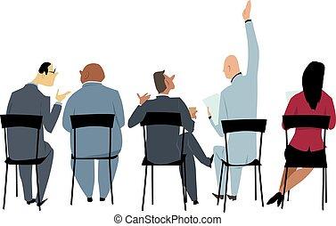 audiência, apresentação, negócio