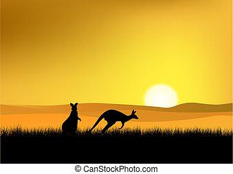 austrália, pôr do sol