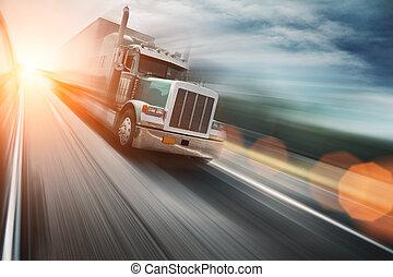 auto-estrada, caminhão