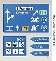 autobahn, sinais
