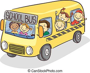 autocarro, escola brinca, vara