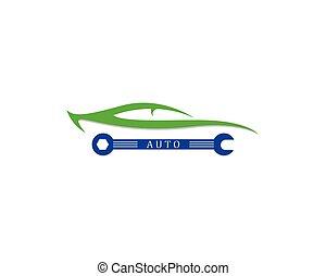 automático, logotipos, car, modelo