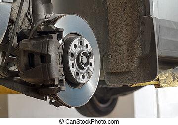 automóvel, disco, brakes.