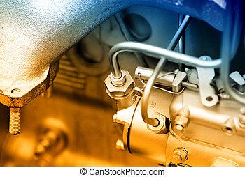 automóvel, motor, detalhe
