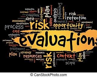 avaliação, conceito, palavra, nuvem, tag