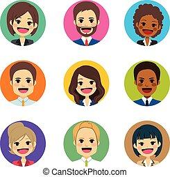 avatar, pessoas negócio