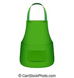 avental, cozinha verde