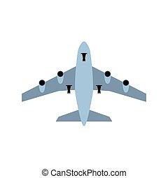 avião, decolagem, ícone
