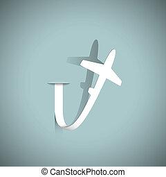 avião, papel