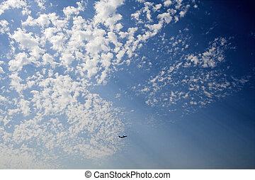avião, partida