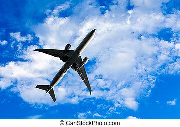 avião, voando, despesas gerais