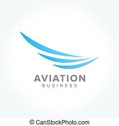 aviação, indústria, símbolo, negócio
