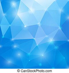 azul, abstratos, eps10., polygonal, experiência., vetorial