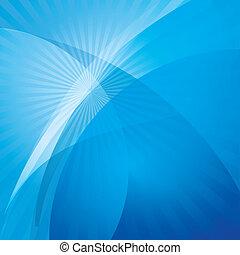 azul, abstratos, fundo, onda