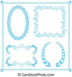 azul, abstratos, jogo, quadro