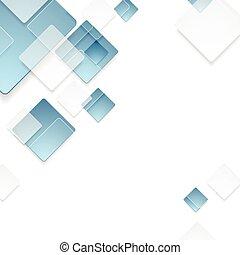 azul, abstratos, tech, desenho, geomã©´ricas, quadrados