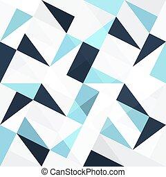 azul, abstratos, triângulos, seamless, fundo