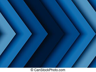 azul, abstratos, vetorial, setas, fundo