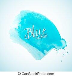 azul, aquarela, respingo, projete elemento