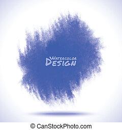 azul, aquarela, splatter