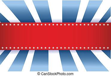 azul, bandeira americana, branca, desenho, vermelho