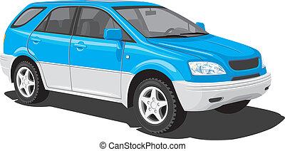 azul, brinca veículo utilidade