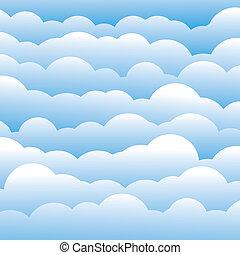 azul, camadas, nuvens, este, luz, abstratos, contém, -, ilustração, cor, vetorial, fundo, (backdrop), 3d, graphic., macio
