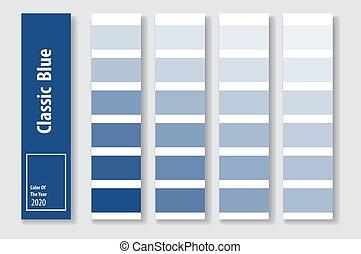 azul, clássicas, ano, vetorial, illustration., 2020, cor, advertising.
