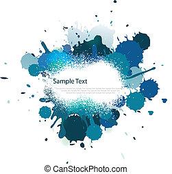 azul, cor, respingo, tom