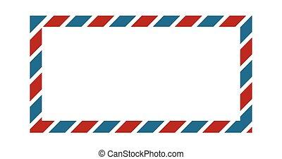 azul, cores, borda, clássicas, papel parede, envelope, saudação, desenho, quadro, vetorial, experiência vermelha, casório, invitation., borda, ou, cartão, illustration.