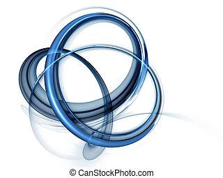 azul, dinâmico, rotational, movimentos