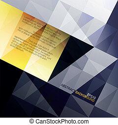 azul, eps10, abstratos, amarela, experiência., vetorial, gamut., triângulos