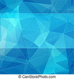 azul, estilo, abstratos, triangular, fundo