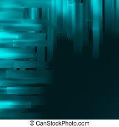 azul, experiência., abstratos, eps, 8
