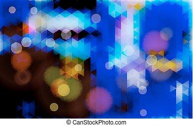 azul, experiência., abstratos, obscurecido