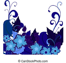 azul, flowers2