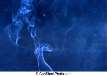azul, fumaça, borrão